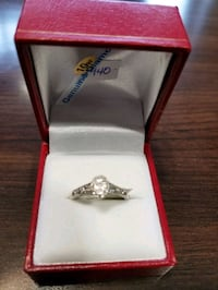 10K White Gold Lady's Diamond Ring! New w/tag and appraisal papers