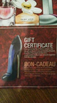 Fragrance Gift certificate Calgary, T2A 3C4