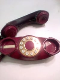 Vintage red leather telephone Las Vegas
