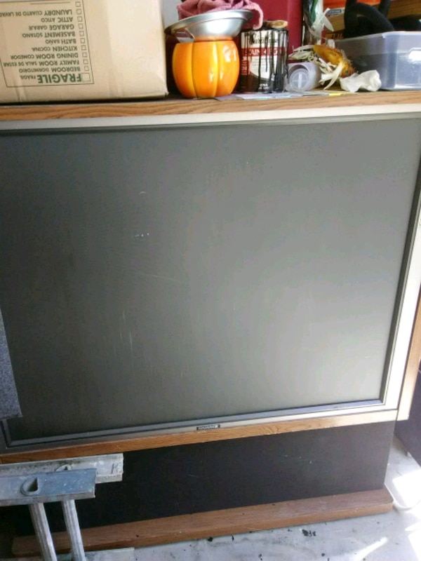 gray and black flat screen TV