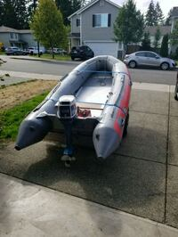 Achillies 12ft inflatable boat w 18hp engine  Spanaway