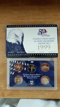 1999 US Mint Proof Quarter Set. With COA. Virginia Beach, 23464