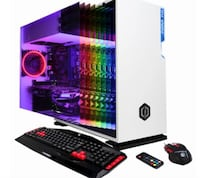 CyberPowerPC - BattleBox Essential Desktop - Intel Core i5 - 8GB Memory - NVIDIA GeForce GTX 1060 - 120GB Solid State Drive + 2TB HDD - White CLIFTON