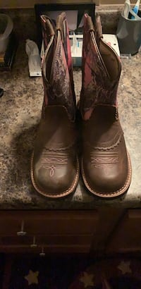 pair of brown leather cowboy boots Midland, 79706