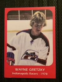 Wayne Gretzky Indianapolis Racers-1978 National Sports Card. The Card is in Perfect Condition.  Edmonton, T6B 3L4