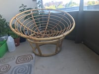round brown wooden table with two chairs Kitchener, N2C 2R8