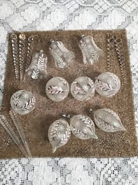Christmas Tree Ornaments--17 pieces Stafford Courthouse