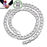 925 Silver 8MM Figaro Chain Necklace 24 Inch New London, N6P 1P6
