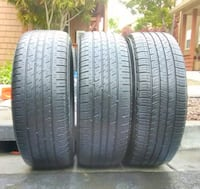 two black rubber car tires Oakland, 94619