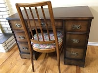 Wood Antique Vanity Desk and Chair Abbotsford, V2S 1G9