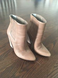 BCBG nude booties so cute! Chunky heel Milton, L9T 8M7