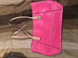 Guess pink patent purse