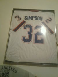 white Simpson jersey with signature Akron, 44314