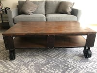 rectangular brown wooden coffee table Cambridge, 02141
