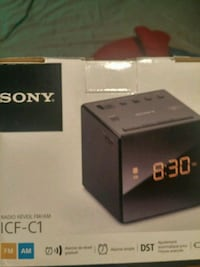 black Sony  alarm clock