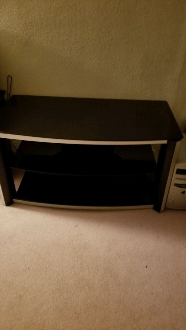 Used 3 Level Glass Tv Stand For Sale In Andover Letgo