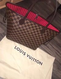 Black and red louis vuitton neverfulls bag  null, SE1