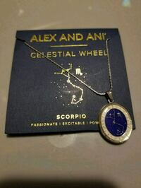 Scorpio Alex and Ani silver celestial wheel necklace  Toronto, M6M 4E1