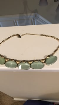 Jade look stones with gold  filled chain Greenville, 27834