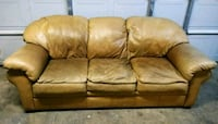 Real Leather Couch *Good Condition/ Will Deliver* Sacramento, 95823