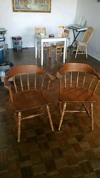 2 vantage wooden chairs  Mississauga, L5A 3S1