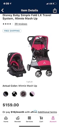 Minnie Mouse Car Seat and Stroller Indianapolis, 46202