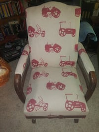 Antique Rocking Chair Cushioned Tractor Theme