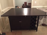 black wooden single pedestal desk Thomasville, 27360