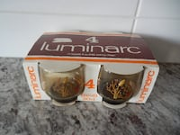 *Vintage* New in the Package Luminarc 7oz juice glasses $10 PU Morinvi Morinville