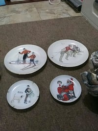 Norman Rockwell Limited addition collectables plates