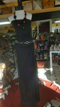 black strapless long dress