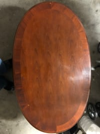 Round brown wooden table top Plano, 75025