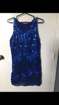 blue and white floral sleeveless dress Calgary, T3J