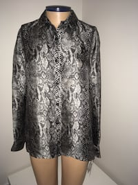 Jones New York Shirt Blouse Snake Print Women Medium 100% Silk New Montréal, H4G 1M2
