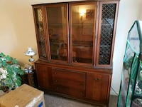 brown wooden framed glass display cabinet Newburgh, 47630