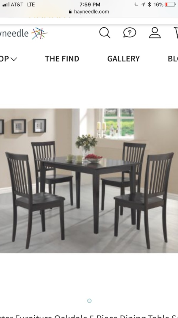 Rectangular Brown Wooden Table With Six Chairs Dining Set Some Scratches On And Minor