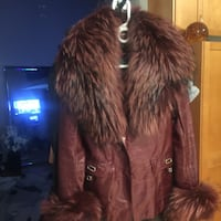 Brand New leader and fur jacket XS/S from Europe Vaughan, L4H