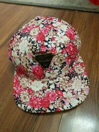red and white floral cap Surrey, V3R 1N9