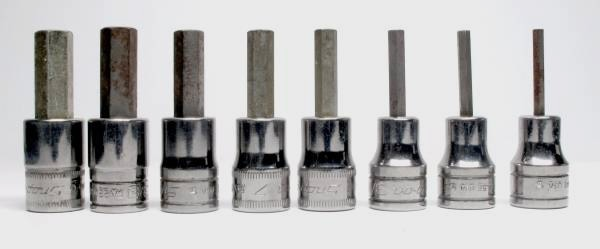 Snap-On 8-Pc Standard and Metric Hex Socket Drivers