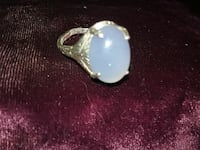 silver and blue gemstone ring Sycamore
