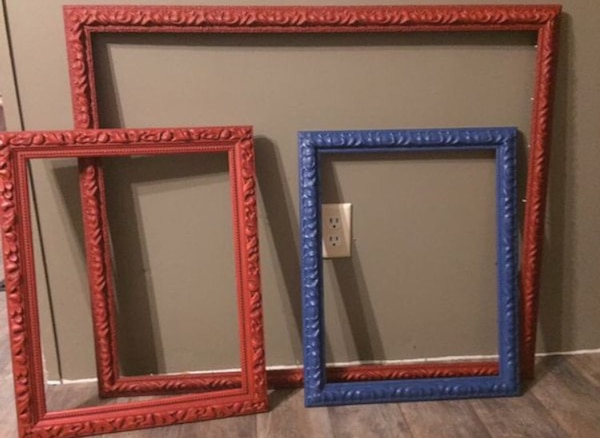 Used Two Red And One Blue Artwork Frames For Sale In Westfield Letgo