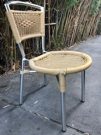 Lot of 50 restaurant chairs wicker and métal (stackabke) whole lot not individuals contact at  [TL_HIDDEN]  or  [TL_HIDDEN]  Los Angeles, 90291