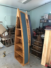 Brown wooden framed glass display cabinet Leduc, T9E 8C8