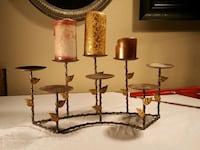 three brown wooden candle holders Plano, 75025
