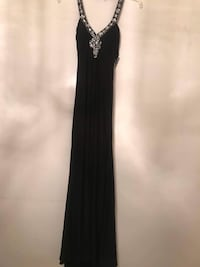 Halter black gown with embroidered/beaded low back cut Springfield, 22153