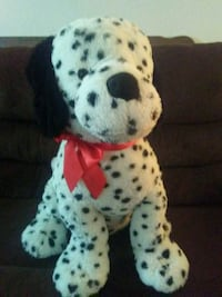 Over-sized Dalmation plush toy with red bow 54 km