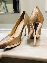 Enzo angiolini gold sparkly heel - size 8.5 722 km