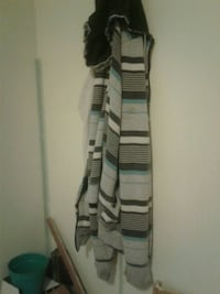 white and black stripe scarf Casper, 82604