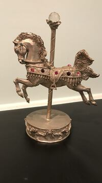 Pewter  horse carousel figurine Oyster Bay, 11714