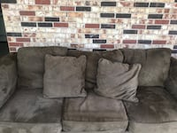 gray suede 3-seat sofa Metairie, 70001
